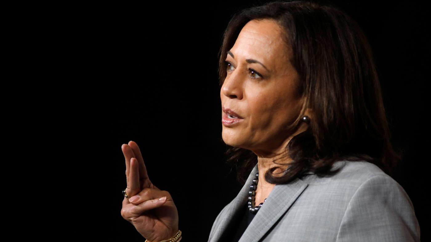 Foto de Kamala Harris é o sorteio do debate vice-presidencial de 2020 – Quartz
