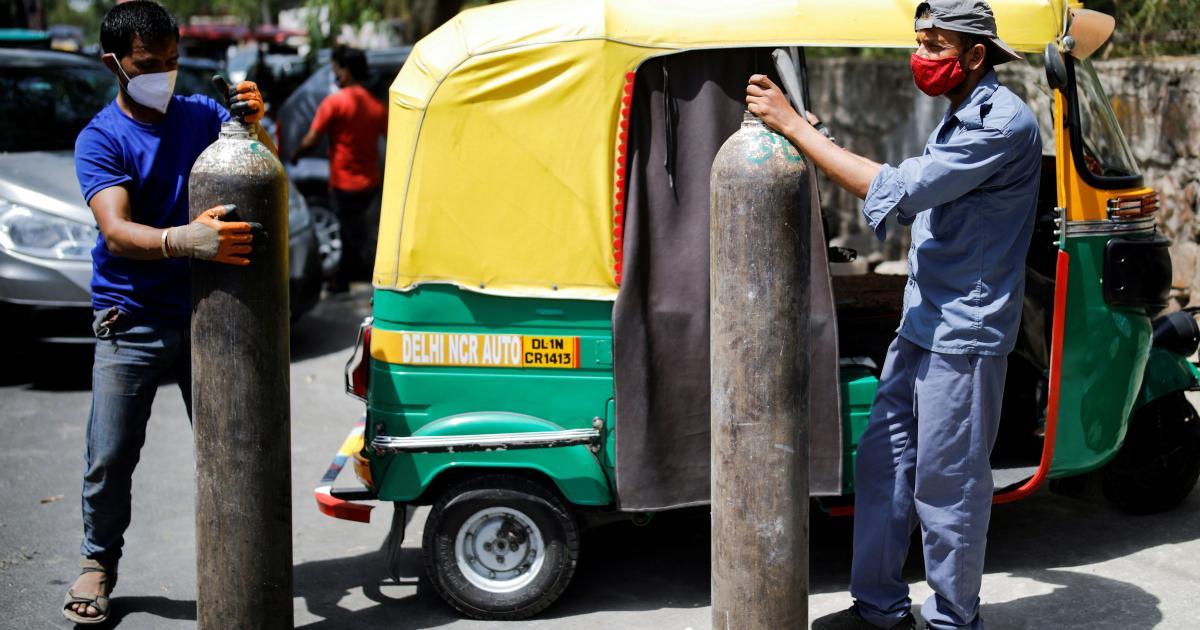 Foto de Por que é tão difícil conseguir cilindros de oxigênio na Índia?  – quartzo