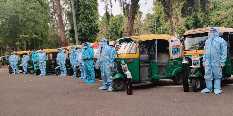Foto de Na Índia, atingidos por Covid, os riquixás funcionam como ambulâncias oxigenadas – Quartz India