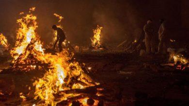 Foto de Um banco de madeira na Índia ajuda famílias afetadas pela Covid a incinerar seus entes queridos – Quartz India